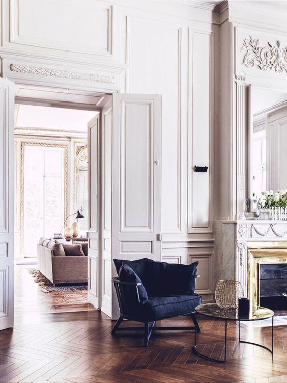 Современные французские интерьеры в стиле неоклассика. - Дизайн интерьеров | Идеи вашего дома | Lodgers