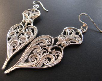 Pendientes de filigrana de plata esterlina por AnnabelsJewellery