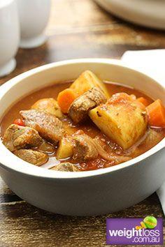Healthy Lamb Recipes: Slow Cooker Mediterranean Lamb. #HealthyRecipes #DietRecipes #WeightlossRecipes weightloss.com.au