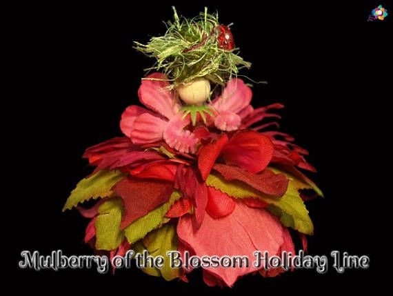 Mulberry of the Blossom Holiday Line Fairy Faerie OOAK