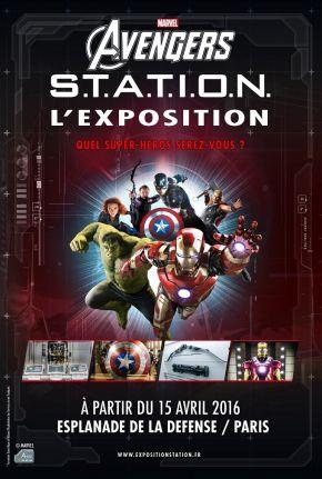 Marvel Avengers S.T.A.T.I.O.N.  Du 15 avril au 25 septembre 2016 Esplanade de la Défense Horaires : 10h30-19h30 en semaine, 9h30-20h week-end et vacances Tarifs : 22€ adultes, 17€ enfants -12 ans, gratuit -4 ans, pass famille à 70€