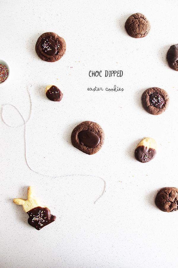 chocOlate dipped easter cookies