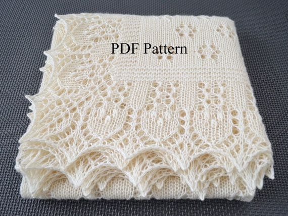 Design by LaceKnit. Pattern of square Shawl Forest by LaceKnit, $6.90