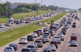 interstate 4 florida traffic   Traffic on the I-4 Interstate Highway in Florida. According to a study ...
