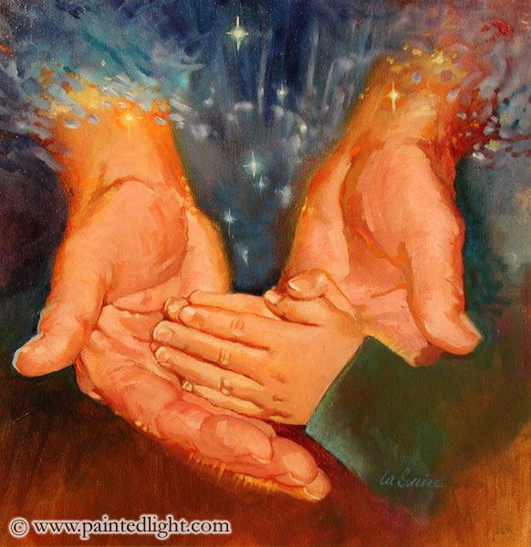 child+of+god+art | ... 00 here the hands of god s cradle the praying hands of a small child