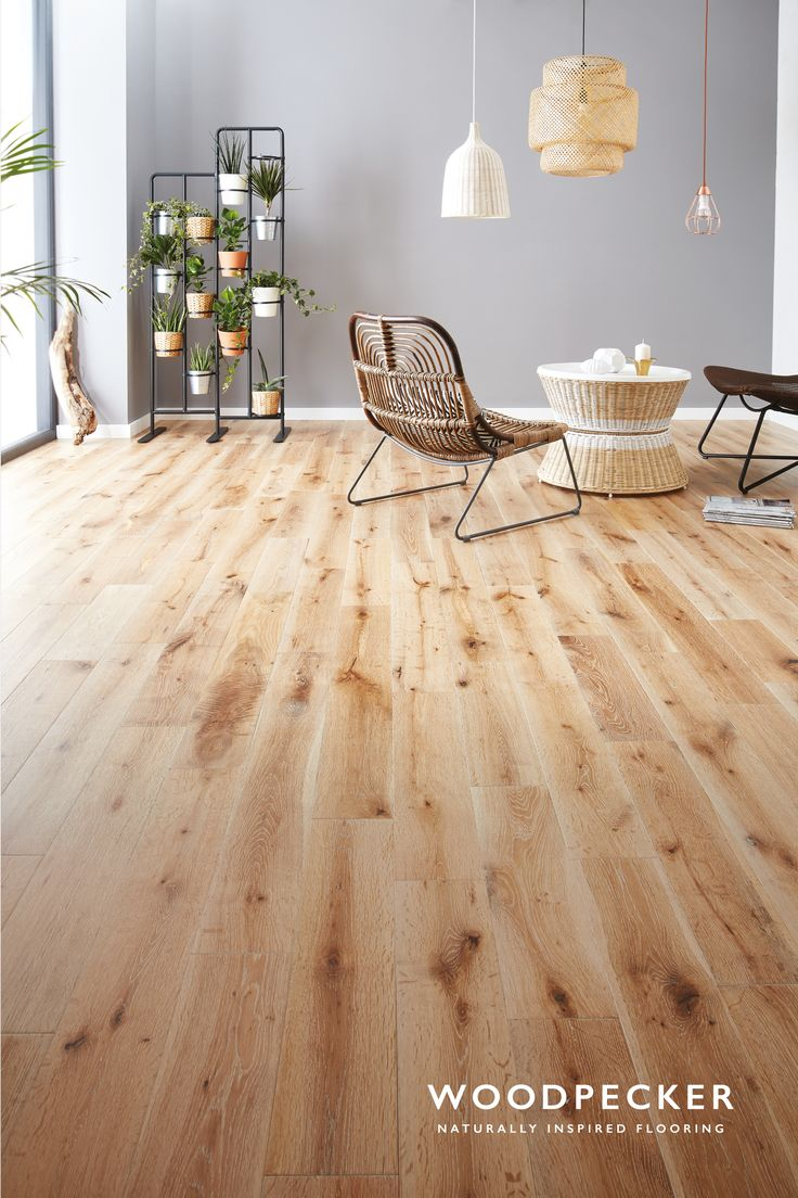Fall in love with the sandy tones and airy feel found in this white washed wood floor. Get a free sample.