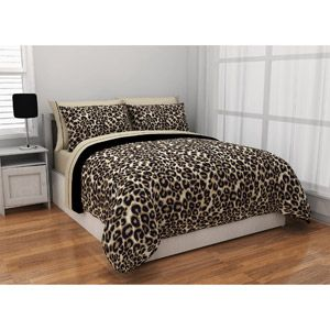 Formula Brushstroke Cheetah Reversible Bed in a Bag Bedding Set ((*Master Bedroom* :):)...))