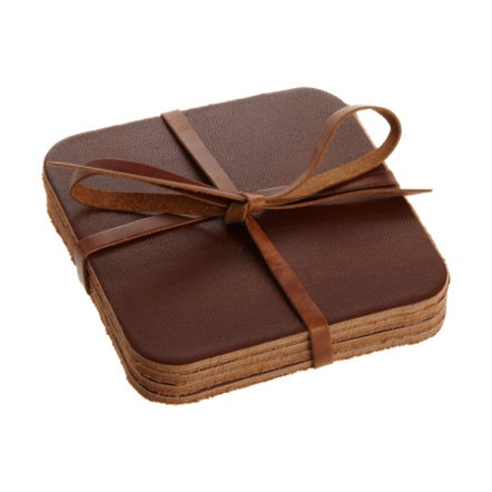 Leather coasters.