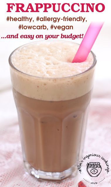 Nóri's ingenious cooking: Make your own Frappuccino in seconds - #healthy, #allergyfriendly, #vegan and easy on your budget! #dairyfree #glutenfree #lowcarb #sugarfree #healthyrecipe #coffee