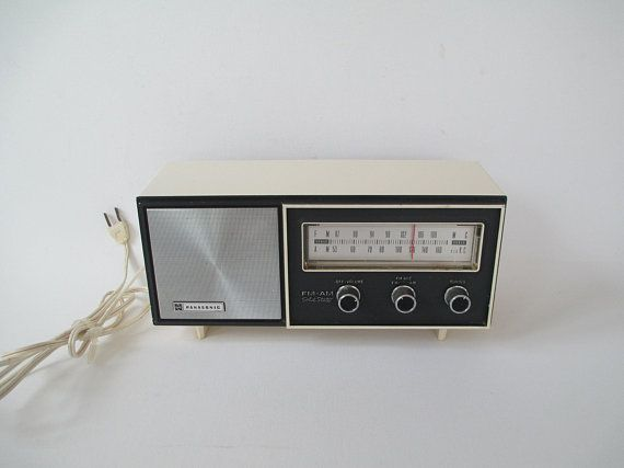 Vintage Panasonic Re 6167 Fm Am Radio White Japan Mid Century 7