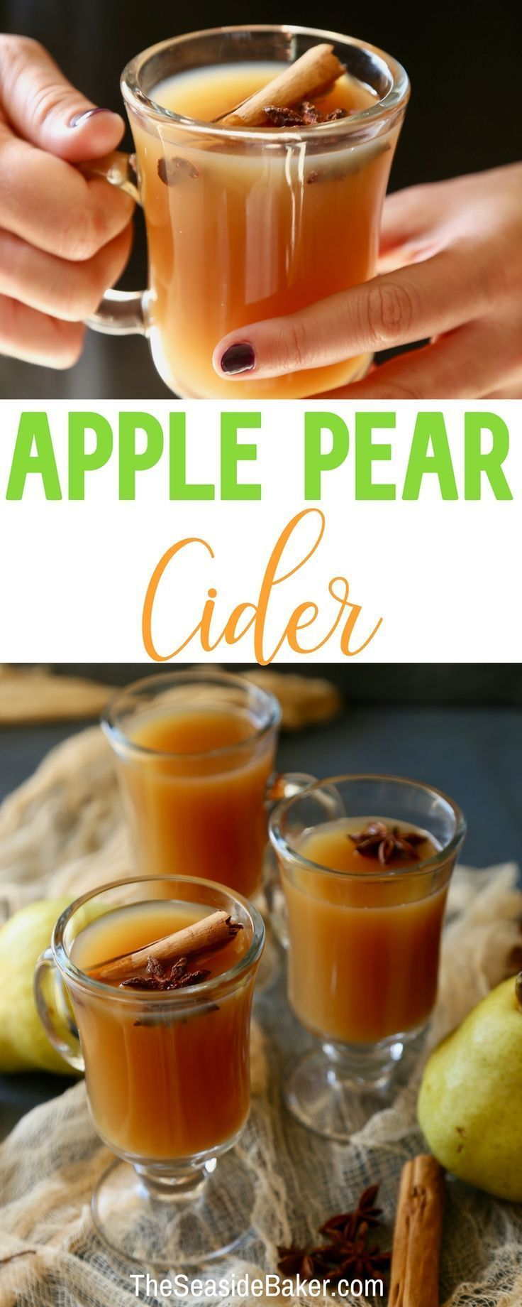 Hot Apple Pear Cider   A Fall Holiday or Winter Drink that's sure to keep you fe…   –  127