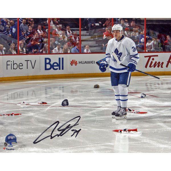 "Auston Matthews Toronto Maple Leafs Fanatics Authentic Autographed 8"" x 10"" First NHL Hat Trick Photograph - $99.99"