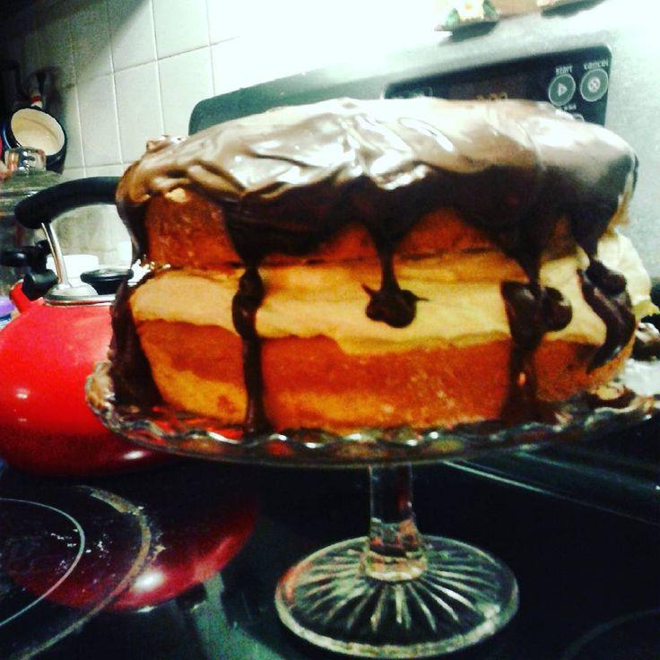 The best Boston Cream Cake Recipe Ever (and SO easy!)
