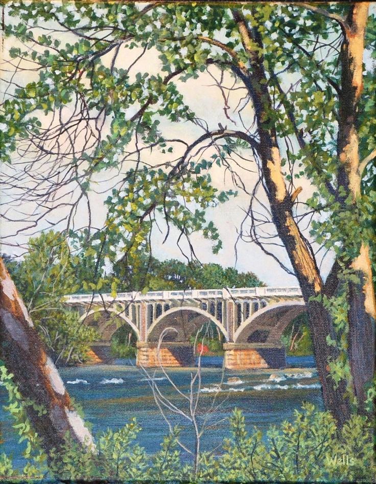 Saluda River - favorite place to kayak as seen through the eyes of painter Rick Wells.