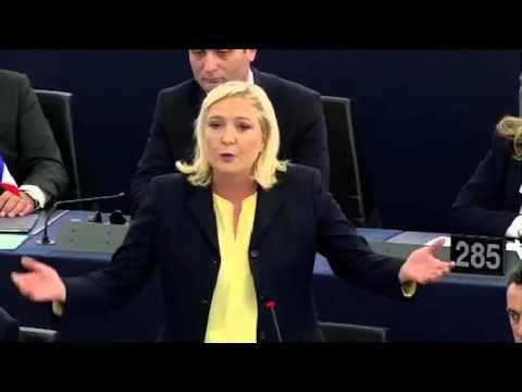 Marine Le Pen défend les nations devant la chancelière Merkel et son vic...