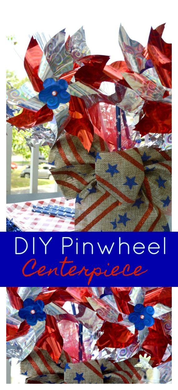 DIY Pinwheel Centerpiece