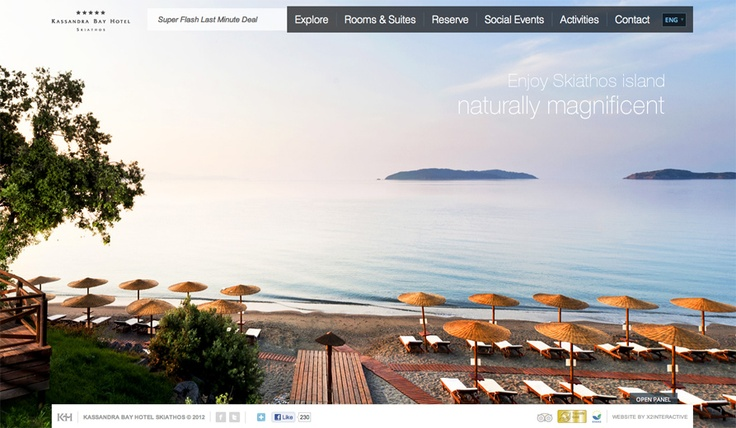 Visit the NEW Kassandra Bay Hotel website, designed and developed by x2interactive at www.kassandrabay.com.