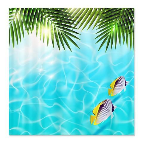 135 best shower curtains images on pinterest shower for Tropical fish shower curtain