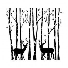 branches_deers_bw