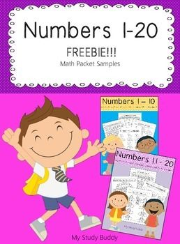 I hope you enjoy this freebie! The samples are from two of my math packets. The first page is from my Numbers 1-10 packet and the second page is from my Numbers 11-20 packet. If you would like to get both packets you can purchase the Numbers 1-20 bundle packet which contains both at a discounted price!!!