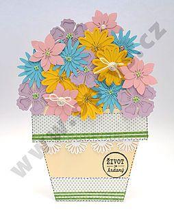 Výřez květiny mix barev, 32 ks