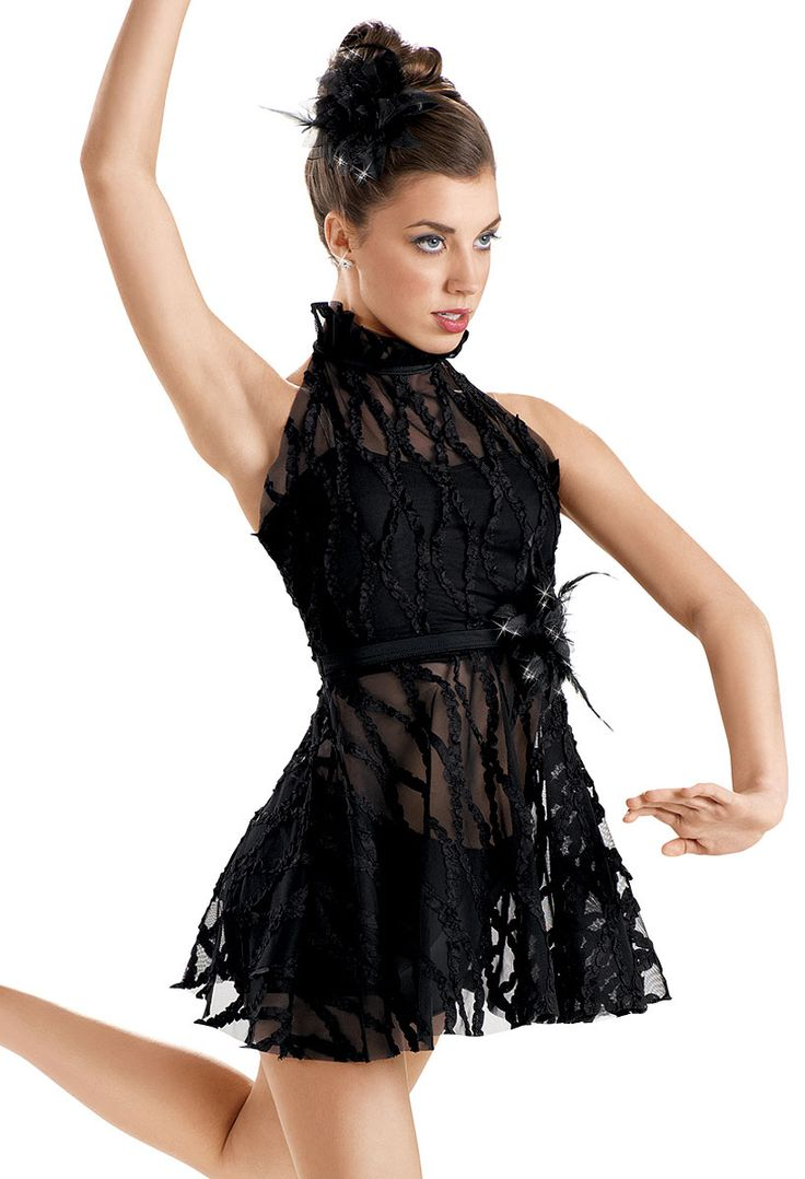 Embroidered Ribbon Mesh Dress -Weissman Costumes