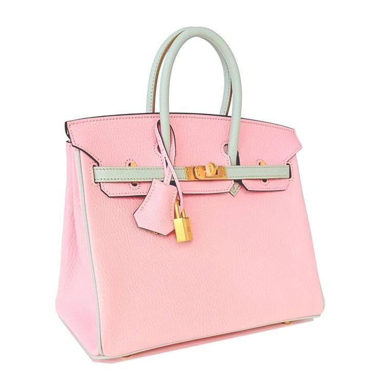 HSS Hermes Rose Sakura Gris Perle 25cm Chevre Birkin Special Order Horseshoe VIP 4