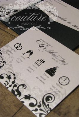New Years Eve Wedding Invitations | Couture Invitations and Studio