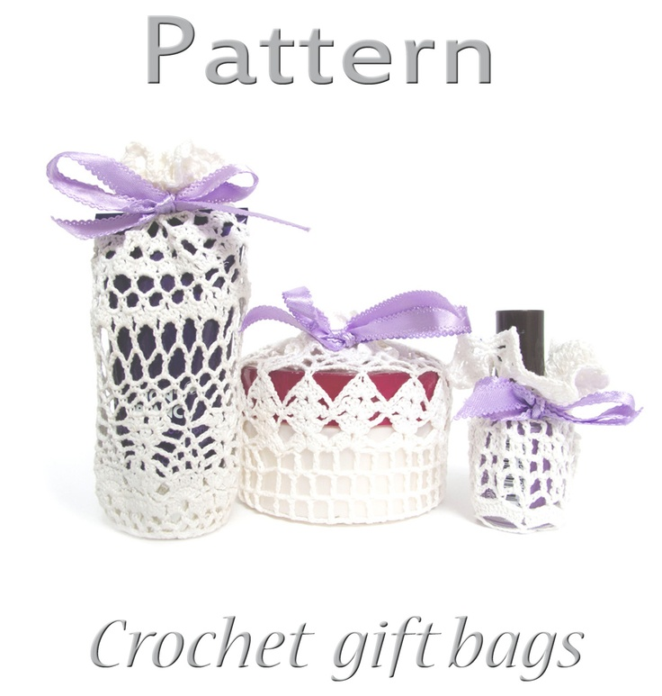 Free Crochet Pattern For Gift Bags : 1000+ images about Crochet gift bags on Pinterest Free ...