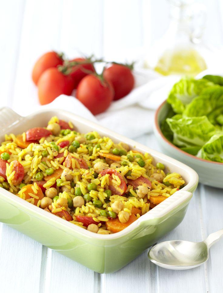 Quick Vegetable & Chickpea Breyani!  #Vegetarian #SouthAfrican
