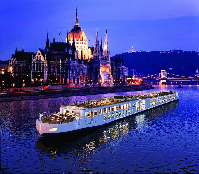 The sturdy cruise ship Viking Odin and the beauty of Budapest. Courtesy of Tanja Knutson River Cruises Porthole Magazine #RiverCruises http://www.eurotravelogue.com/2012/04/seizing-moment-of-my-journey-with.html