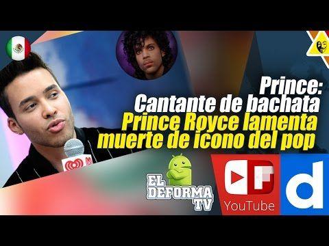 Prince Cantante de bachata Prince Royce lamenta muerte de icono del pop