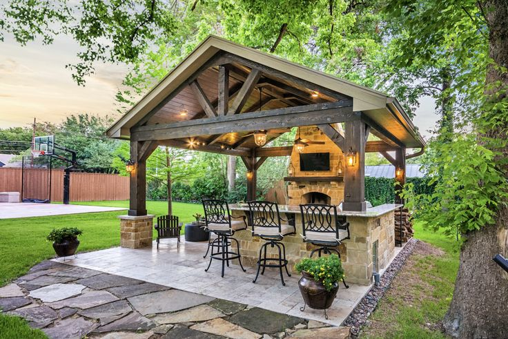 39 best Dine Out: Outdoor Kitchens images on Pinterest ... on Outdoor Kitchen With Covered Patio id=99619