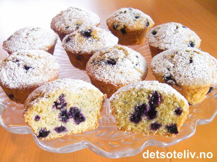 Blåbærmuffins med lønnesirup | Det søte liv