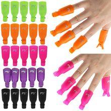 10 Unids 7 color Casquillo Clip de Plástico Acrílico Nail Art Soak Off UV Gel Removedor de Esmalte de Uñas(China (Mainland))