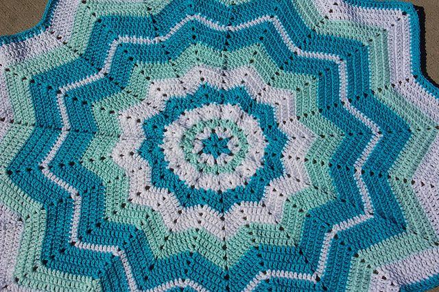 Beginner Crochet Afghan Patterns : Crochet Fanatic, Ripple Pattern, Crochet Afghans, Smoothfox Beginners ...