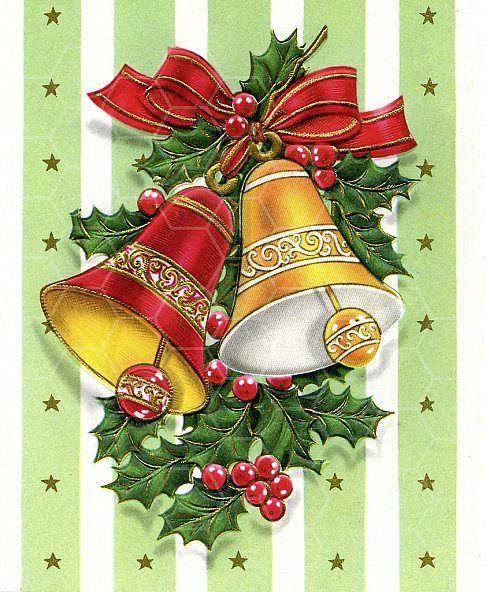 Днем рождения, открытки с колокольчиками рождественскими