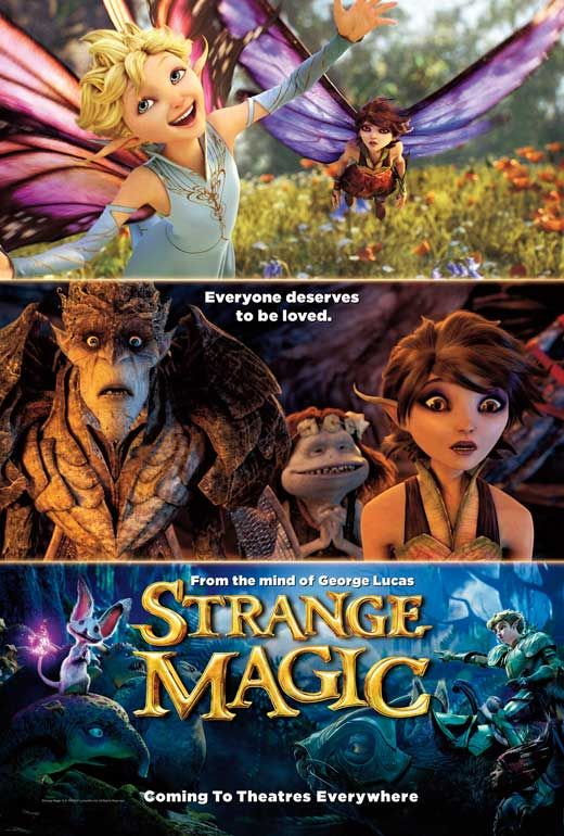 Strange Magic (2015) - Synopsis: Goblins, elves, fairies and imps, and their misadventures sparked by the battle over a powerful potion.