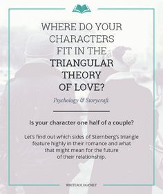 Is your character one half of a couple? Let's find out which sides of Sternberg's triangle feature highly in their romance and what that might mean for the future of their relationship. | Writerology.net