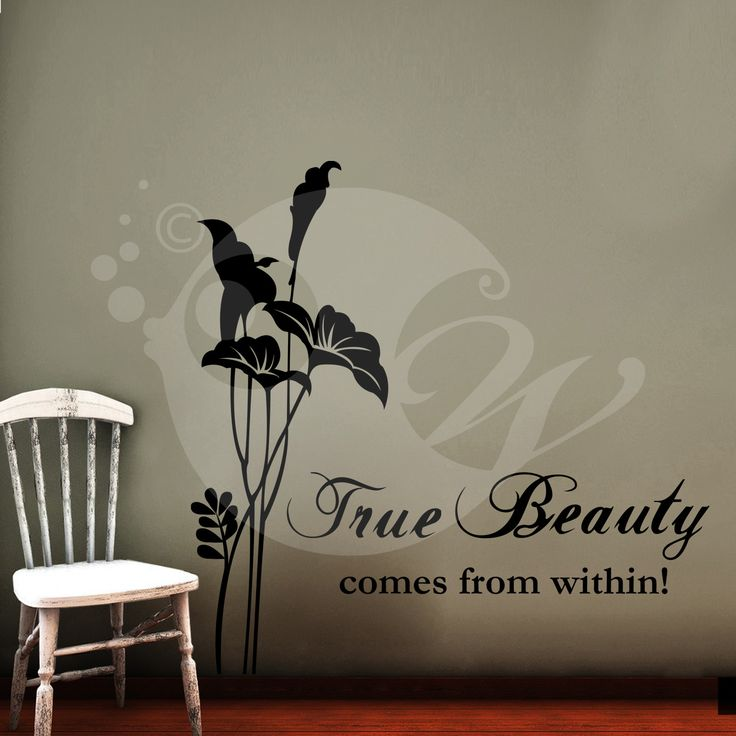 With this True Beauty Wall Sticker Decal you can decorate your walls in one of the most modern and elegant ways