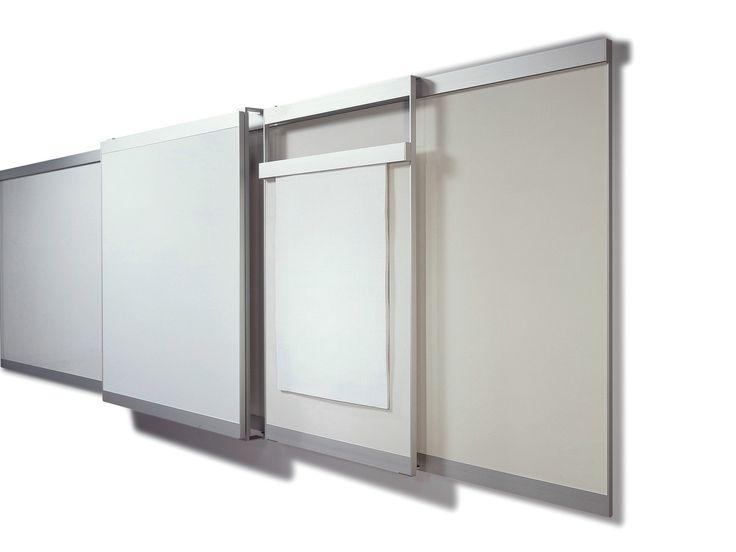 Lavagna per ufficio scorrevole a parete VIP Collezione Vip by Abstracta | design FRIIS