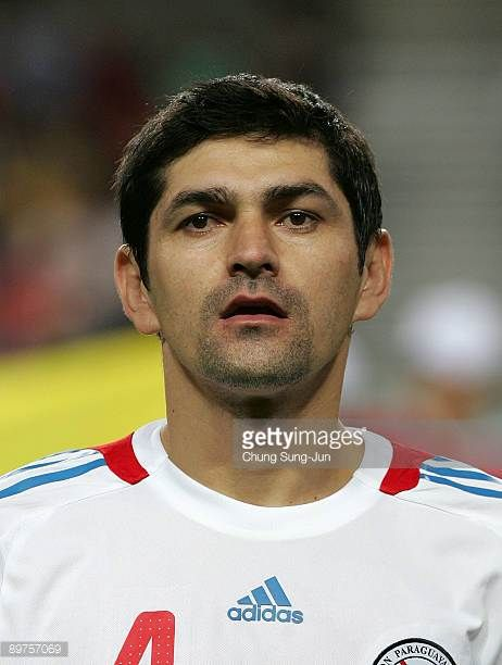 Denis Caniza of Paraguay stands before the international friendly match between South Korea and Paraguay at Seoul Worldcup stadium on August 12 2009...