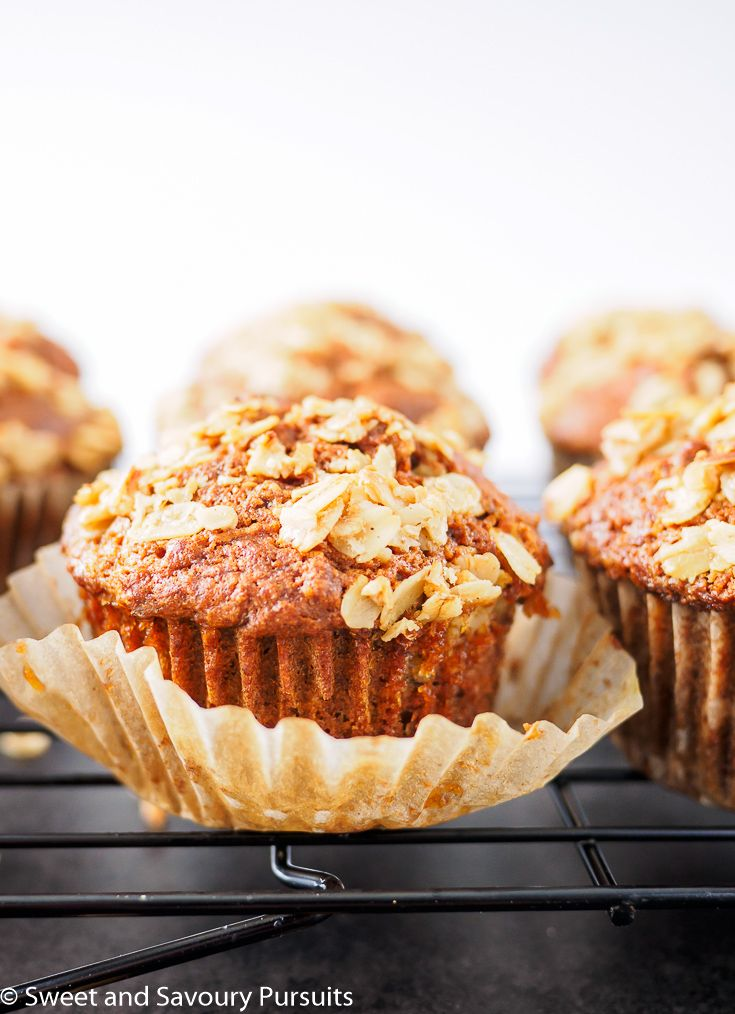 These healthy and easy to make Whole Wheat Carrot Muffins are lightly sweetened with maple syrup and include turmeric, a spice with anti-inflammatory properties. via @Sweet and Savoury Pursuits