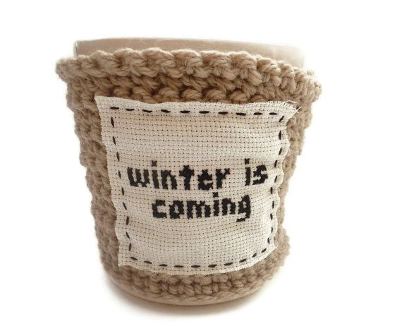 A Song of Ice and Fire coffee cozy.  Perfect!