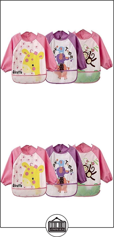 oral-q Unisex niños Arts Craft delantal pintura niño baberos bebé impermeable con mangas y bolsillo, 6-36meses,-Juego de 3  ✿ Seguridad para tu bebé - (Protege a tus hijos) ✿ ▬► Ver oferta: http://comprar.io/goto/B01M3QYFR6