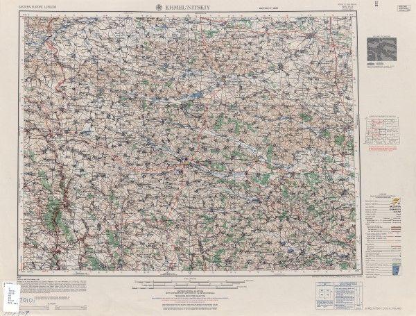 Карта США послевоенная