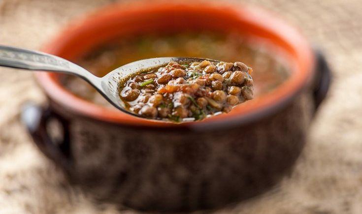 Φακές σούπα με σπανάκι