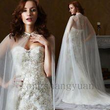 Свадебное украшение плащи кружева аппликация накидки куртки белый слоновая кость обернуть пол длина