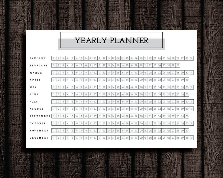 Yearly Planner Printable. Cathartic Malarkey has study planner pages to organize every aspect of your semester.