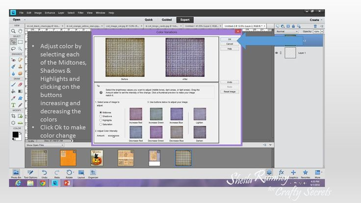 Tutorial by DT Member Sheila Rumney showing how you can digitally change the color of Printable Papers using Photoshop Elements to suit your theme and colors.